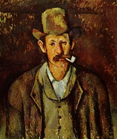 Paul Cézanne ~ Man with a Pipe, 1892