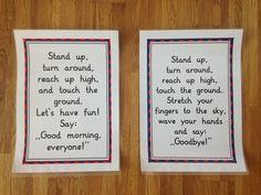 Zum Beginnen und Beenden des Englischunterrichts habe ich einen Reim eingeführt, der den Kindern immer sehr viel Spaß macht. Woher der Tex...