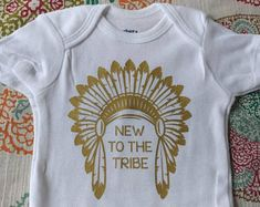 f1575f001 New to the Tribe Onesie, Indian, Seminole, FSU, Florida State, Noles