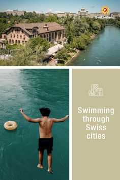 Discover Swiss cities and their rivers Switzerland Tourism, Crystal Clear Water, Most Beautiful, Europe, Swimming, Urban, Bern, Adventure, Architecture