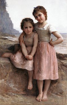 William Adolphe Buguereau - On the Rocky Beach, 1896 at the Detroit Institute of Art, Michigan, USA
