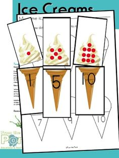 Ice Creams Subitising Numeral identification Game