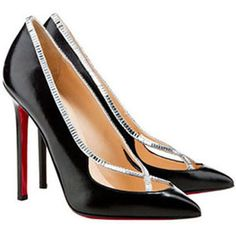 Christian Louboutin Super Vic 120mm Leather Pumps Black [Christian Louboutin Pointed Toe Pumps 2058] - $128.00 : Christian Louboutin Outlet,Cheap Red Bottom Shoes Online Store.