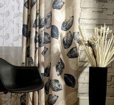 Ivory Curtains, Leaf Curtains, Unique Curtains, White Sheer Curtains, Brown Curtains, Luxury Curtains, Printed Curtains, Cotton Curtains, Grommet Curtains