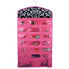 Hanging Jewelry Organizer 40 Pockets Zippered Earrings Bracelets Necklaces NEW