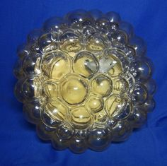 Mid Century 60´s Bubble Glass Wall or Flushmount Lamp #O/B