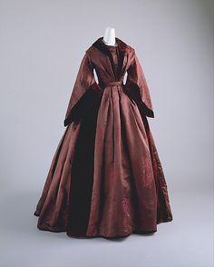 Dress, Date: ca. 1850 Culture: British Medium: silk  Metropolitan Museum of Art  Accession Number: 1994.302.1