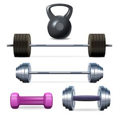 Buy Dumbbells Barbells And Weight by macrovector on GraphicRiver. Dumbbells barbells and weight fitness and bodybuilding equipment realistic icons set isolated vector illustration. Kettlebell, Dumbbell Workout, Weight Training, Weight Lifting, Body Weight, Weight Loss, Bodybuilding Equipment, Barbell Weights, Academia Fitness