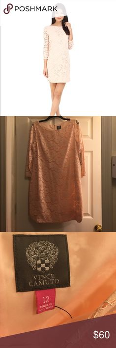 🎊ONE DAY SALE Vince Camuto dress Brand used never used before no tag! Light pink lace dress Vince Camuto Dresses