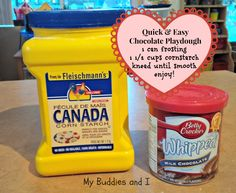 Quick and Easy Chocolate Playdough - This is so super easy to make and certain buddies thought it tasted pretty good, too. A little less sugary than other similar playdoughs