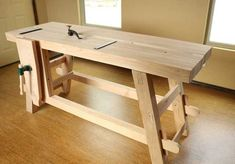 Post with 14628 views. Craftsman Workbench, Workbench Plans, Woodworking Workbench, Woodworking As A Hobby, Woodworking Projects, Workbench Designs, Woodworking Inspiration, Wood Turning Projects, Shop Plans