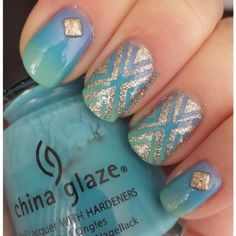 We love the sparkle of this manicure. Show off your style through glitter and bright colors!