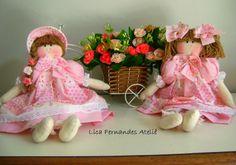 Lica Fernandes Ateliê: Bom Dia! Boneca de pano. #Boneca Renata e Boneca Leticia #Boneca de pano  Lica Fernandes Bonecas
