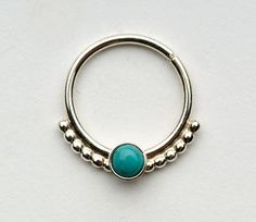 Septum Ring / Nose Ring/ with 1mm balls and 3mm by Noyfir on Etsy