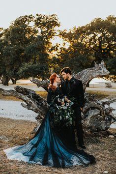 Black Wedding Gowns, Wedding Bridesmaid Dresses, Black Weddings, Halloween Wedding Dresses, Halloween Weddings, Medieval Wedding, Viking Wedding, Sunset Wedding, Marie