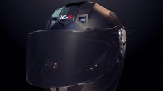 Intelligent Cranium's iC-R helmet - e-tint visor turns dark when a small voltage…