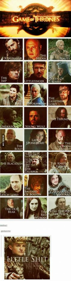 Know these and you woulf not have a problem understandin GoT - Game of Thrones / A Song of Ice and Fire - George R.R. Martin
