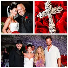 "George, Guitarist & Grammy winning song writer of the ""Black Eyed Peas"" tied the knot to the lovely Naomi.  The bride wore a more traditional Spanish Comb in her hair and wrapped a Crystal Rosary around her bouquet. Stunning !!     Photos by:  Andrena Photography"
