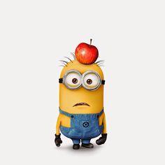 ME:  Hey! You! You've got apple on your head!  HE: oh, really??  Ha ha