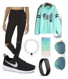 """""""Casual Friday"""" by jennagj on Polyvore featuring Wrangler, Casetify, Fitbit, Tiffany & Co. and NIKE"""