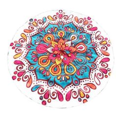Hatop Round Printing Hippie Tapestry Beach Picnic Throw Yoga Mat Towel Blanket (B) * You can get additional details at the image link. (This is an affiliate link) Beach Blanket, Picnic Blanket, Outdoor Blanket, Hippie Style, Flower Power, Beach Towel, Beach Mat, Tapestry Beach, Bikini Cover Up