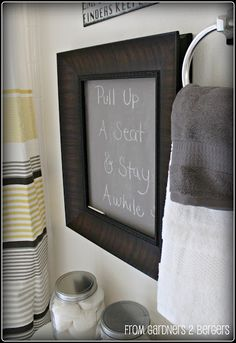 Is this a trashy quote for the bathroom? Don't really want people staying awhile.