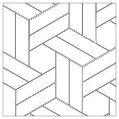 헤링본 cool tattoos - Tattoos And Body Art Barn Quilt Patterns, Floor Patterns, Tile Patterns, Floor Design, Tile Design, Glass Design, Design Design, Geometric Art, Geometric Designs