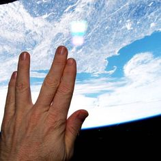 NASA astronaut Terry Virts took this image from the International Space Station to honor Leonard Nimoy. <br />