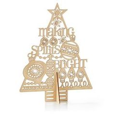 Laser-Cut Wood Christmas Tree,