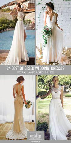 24 Best Of Greek Wedding Dresses For Glamorous Bride ❤ Timeless classics - this is called greek wedding dresses.See more: http://www.weddingforward.com/greek-wedding-dresses/ #wedding #dresses
