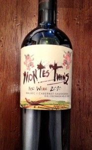 Montes Twins 2011.  A nice South American Malbec-Cab blend.  Almost good enough to drink first!!  - a friend recommends highly
