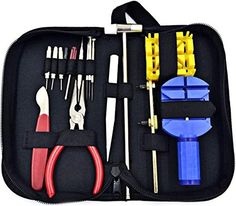 http://www.amazon.com/dp/B0186DOEAY/ref=cm_sw_r_pi_dp_xtSxwb0MKB5K5 Watch Repair Tool Kit-link Opener-high Quality 13 Pieces-sensible Strap Holder Remover-back Case Opener -Adjustable Wrenches-tweezer -Screwdriver-spring Pin Punch-carrying Case & Hammer-cell/battries my watch tools