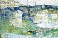Ponte Santa Trinita, 1897, Childe Hassam