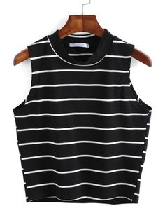 Cheap striped tank top, Buy Quality fashion tank tops directly from China tank top Suppliers: Dotfashion Women Striped Tank Top 2017 Summer Ladies Casual Vest New Arrival Crop Tops Fashion Crew Neck Tank Striped Crop Top, Black Crop Tops, Stripe Top, Black Shirts, Crop Top Styles, Cami Tops, Women's Tops, Trendy Outfits, Teen Fashion