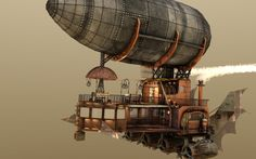 3rd Place - shaddam - Steampunk Airship - Gallery - C4D Cafe