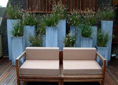 Philip Nixon, www. Outdoor Sofa, Outdoor Spaces, Outdoor Living, Outdoor Decor, Terra Cotta, Small Gardens, Outdoor Gardens, Tall Potted Plants, Grands Pots