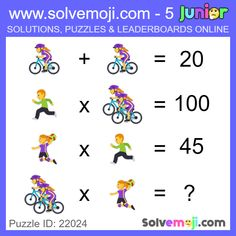 Solvemoji - Free teaching resources - Emoji math puzzle, great as a primary math starter, or to give your brain an emoji game workout. Spot The Difference Kids, Maths Starters, Math Logic Puzzles, Math Genius, Math Talk, Math Memes, Math Challenge, Interactive Posts, Order Of Operations