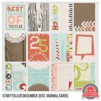 December Storyteller 2012 Journal Cards