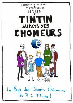 L'Agenda  d'Agathe  : Tonnerre de Brest, TINTIN avec les chômeurs!
