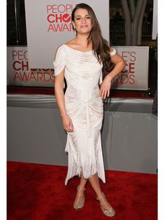 Lea Michele in Marchesa.