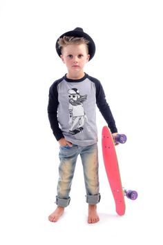 Hipster Skater tee, Boomtown Jeans and Freddy Fedora | Rock Your Kid | http://portal108.com.au/collections/rock-your-baby