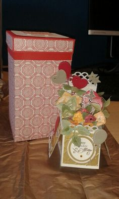 Flower Pop Up Card and Gift Box