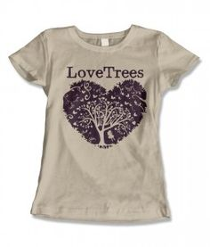 Love Trees designer tree shirts support Love Trees environmental education programs. love-trees.com