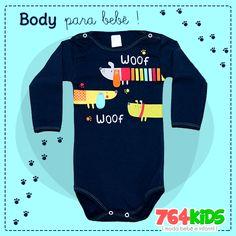 https://www.764kids.com.br/body-para-bebe-menino-woof-woof-patimini-branco Body de manga longa para para bebê menino, da Patimini. COMPRE NA NOSSA LOJA ONLINE E PAGUE EM ATÉ 3X SEM JUROS!