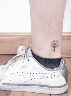 70 Small and Adorable Tattoos by Ahmet Cambaz from Istanbul - TheTatt 13 Tattoos, Mini Tattoos, Neue Tattoos, Foot Tattoos, Small Tattoos, Ankle Tattoo Designs, Small Tattoo Designs, Bright Colorful Tattoos, Tiny Tree Tattoo