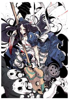 Alice Madness return in wonderland Alice Liddell, Otaku Anime, Art Anime, Dark Alice In Wonderland, Adventures In Wonderland, Alice Madness Returns, Art Et Illustration, Illustrations, Arte Disney