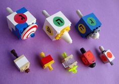 Dreidels are a fun way to celebrate the Jewish holiday of Hannukah. These dreidels for kids are wood, paper, candy and LEGO Hanukkah Crafts, Jewish Crafts, Hanukkah Decorations, Happy Hanukkah, Holiday Crafts, Holiday Fun, Holiday Ideas, Jewish Hanukkah, Holiday Countdown