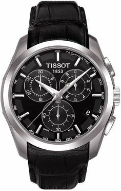 Tissot T-Trend Couturier Black Dial Chronograph Mens Watch T0356171605100: Watches: Amazon.com