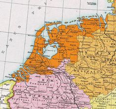 9th - 11th century - Frisia in the north and Lotharingia in the south