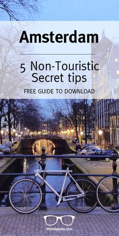 A Bikers paradise with many hidden gems to discover: Amsterdam! Ger our free #GeekyGuide at http://hostelgeeks.com/5-local-tips-amsterdam/